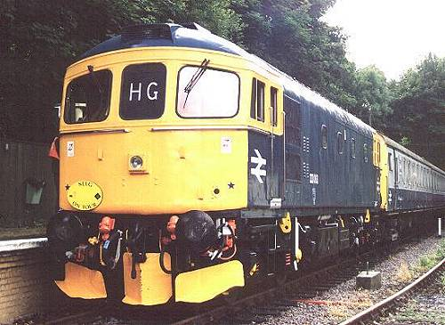 33063 prepares to depart with 13.00 Shepherdswell - Eythorne, 14/7/01. photo D.Robinson