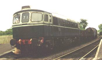 33034 at Corfe on the Swange Railway. Recued from Ludgershall earlier<br /> in 2001. 7/6/01