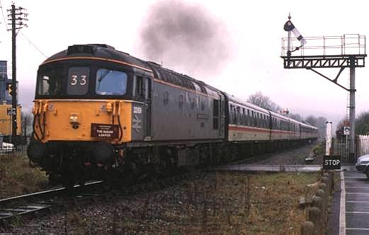 33109 makes a spirited departure from Pantyffynon, Central Wales line