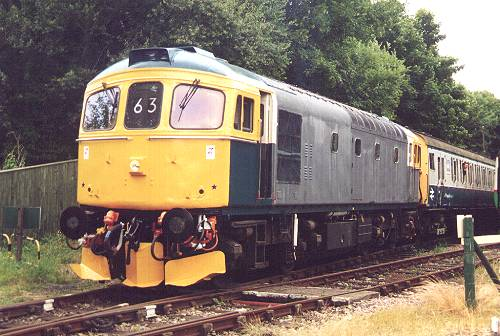 33063 about to depart with 10.45 to Eythorne, 16/7/00. photo D.Robinson