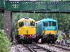 33065 and 73140 maneouvering at the west end of Groombridge loop preparing for the ED sandwich