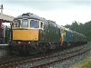 33052 + 065 wait to depart Bodiam for Tenterden on 17/7