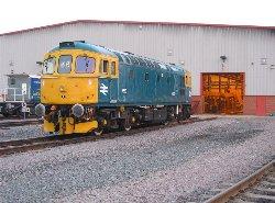 33063 at Temple Mills for tyre turning, 8/2/05, photo C.Smith